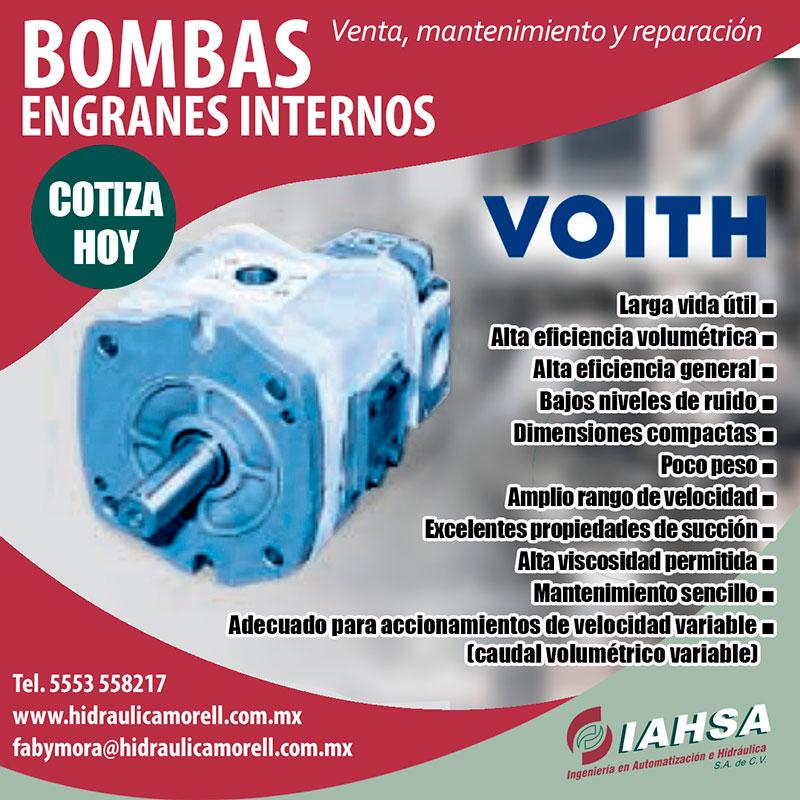 Bombas de engranajes internos para accionamientos energéticamente eficientes