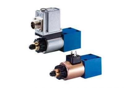 Válvula proporcional limitadora de presión, accionamiento directo DBET